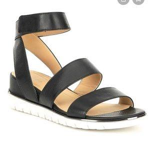 Nurture Molito Leather Strap Black Sandals